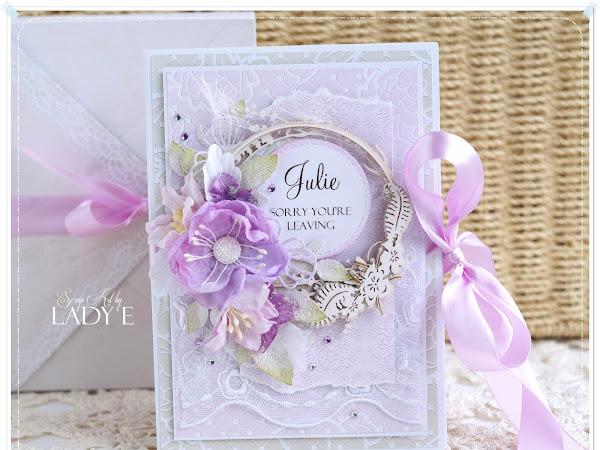 Harmonica Card & Handmade Flowers
