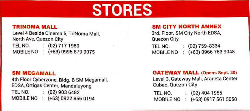 Xiaomi branches in the Philippines