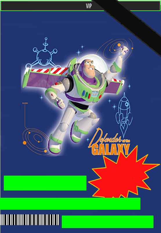 Invitaciones de Buzz Light Year.
