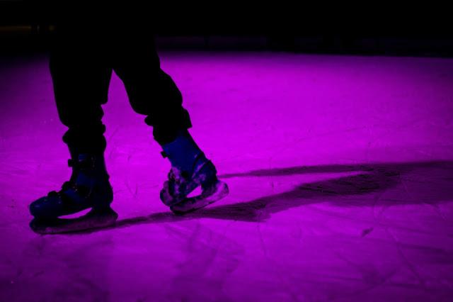 Someone ice skating