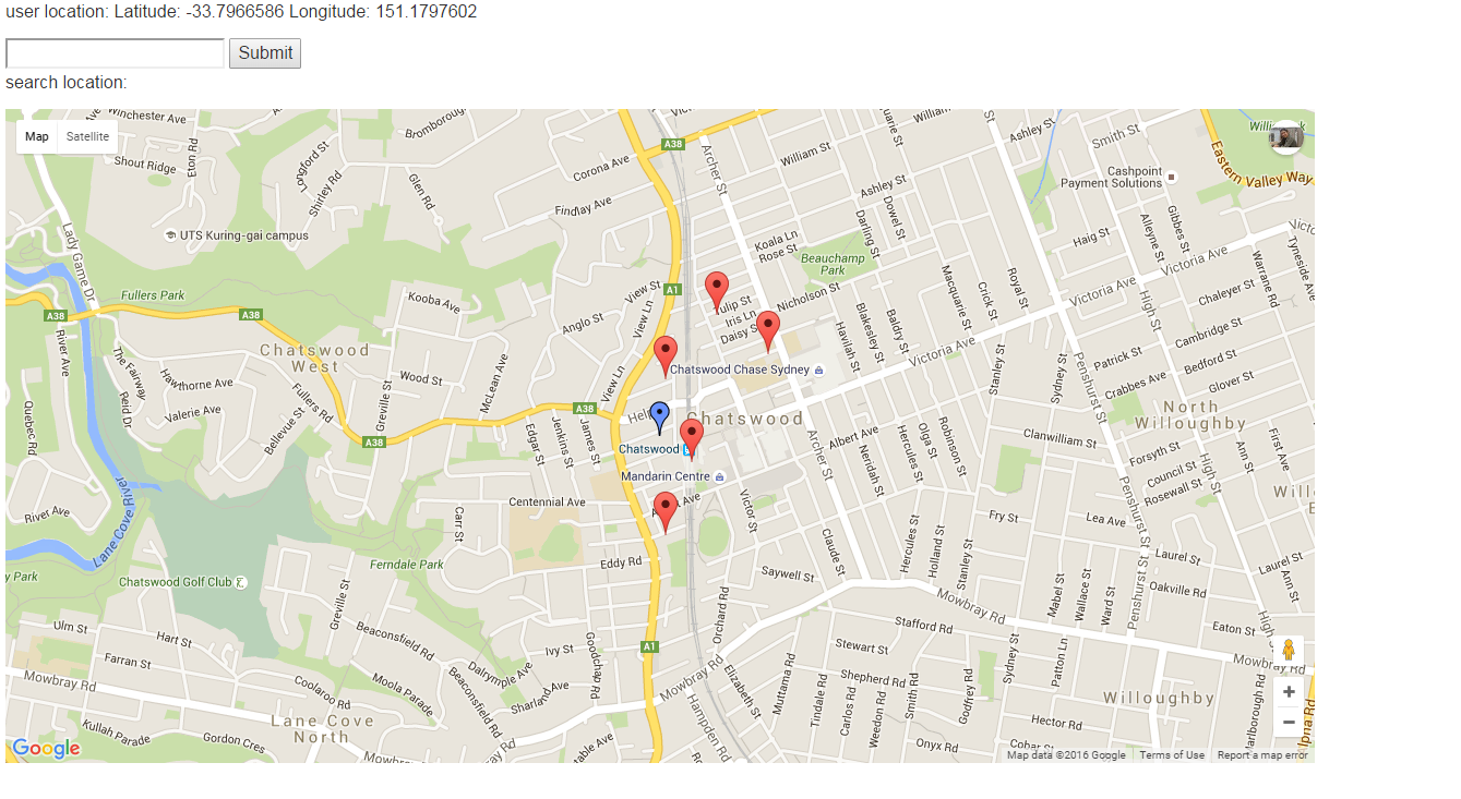 Showing Markers On Google Map V3 With Dynamic Zoom Level By