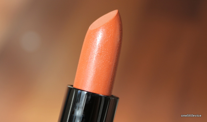 one little vice beauty blog: natural cruelty free vegan orange lipstick