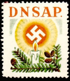 Nazi Christmas stamp light
