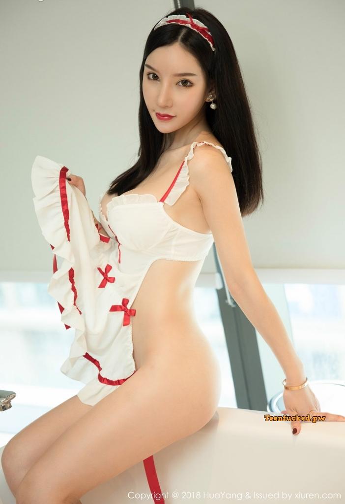 HuaYang 2018 10 12 Vol.089 Zhou Yuxi MrCong.com 027 wm - HuaYang Vol.089: Người mẫu Zhou Yuxi (周于希) (43 ảnh)