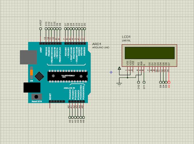 Proteus Arduino-LCD 16x2