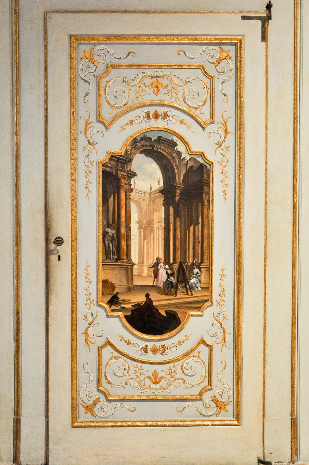 A painted door in Gallerie dell'Accademia in Venice