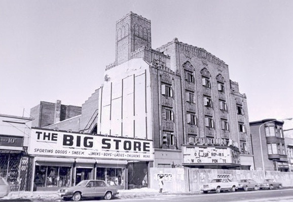 black and white photo of the Uptown Theater