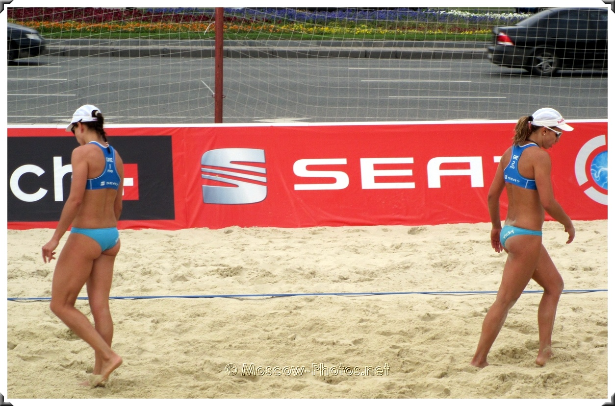 Greece Women's Beach Volleyball  Team after Loss of a Point