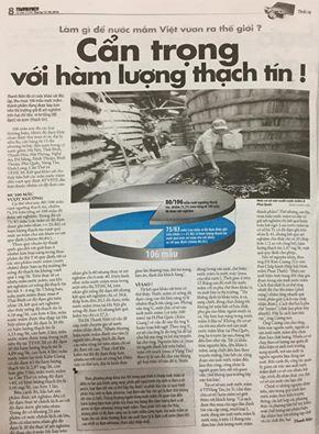 Nước mắm nhiễm ASEN hay tư duy nghề báo nhiễm độc?