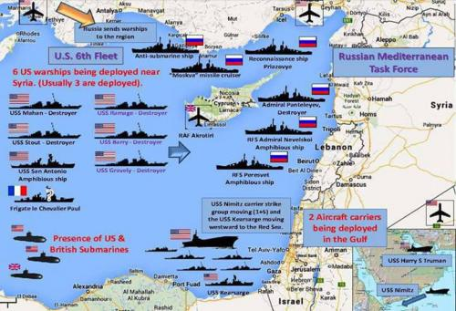 This Is IT RUSSIA Deploys The Whole Northern Fleet To SYRIA For - Us military bases in middle east map