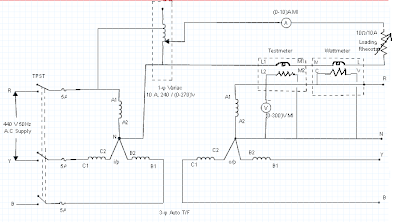 3-Φ Auto Transformer Circuit Diagram