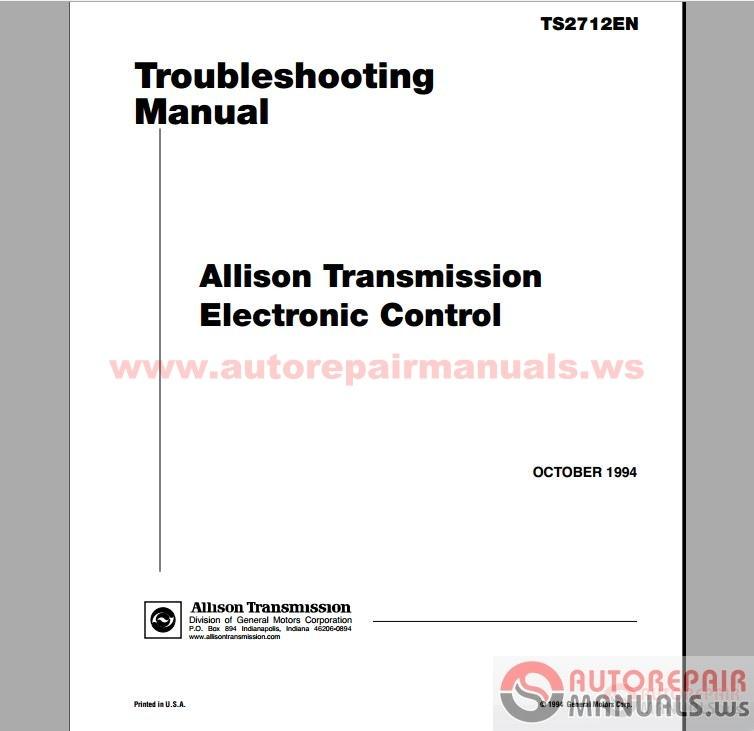 free auto repair manual   universal allison doc v13 0 0