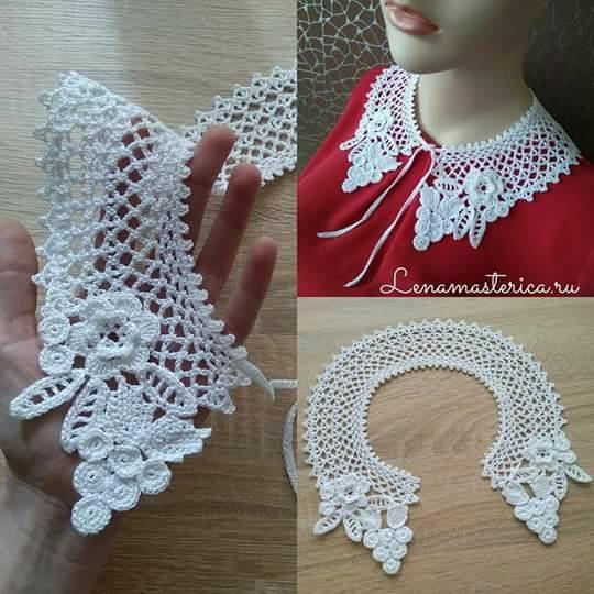 Patrón #1862: Como tejer cuello a crochet