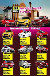 senarai harga mengikut model kereta