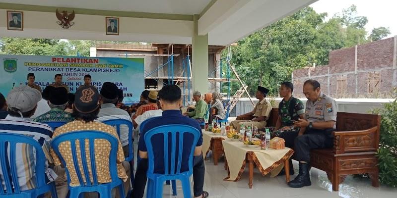 Danramil Kraton Hadiri Pelantikan Perangkat Desa Klampisrejo
