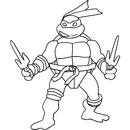 Krafty Kidz Center Teenage Mutant Ninja Turtles Coloring
