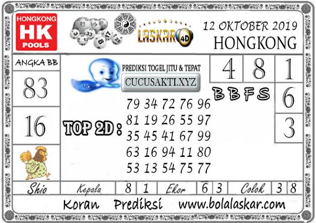 Prediksi Togel HONGKONG LASKAR4D 12 OKTOBER 2019