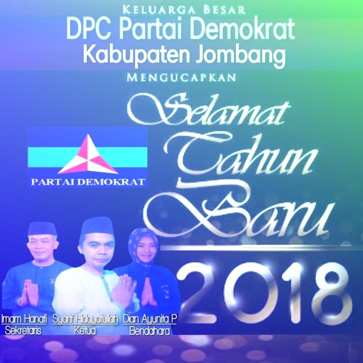 Demokrat Jombang : Selamat Tahun Baru 2018
