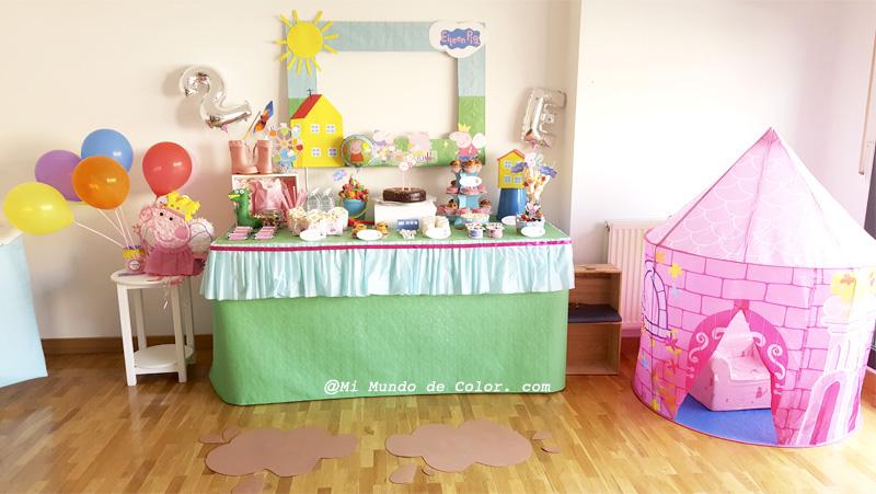 la fiesta de cumpleaños de mi hija inspirada en peppa pig