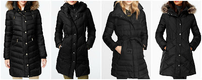 London Fog Faux-Fur-Trim Down Coat • London Fog • $119.99, DKNY Faux-Leather-Trim Quilted Down Coat • DKNY, MICHAEL Michael Kors Hooded Faux-Fur-Trim Down Puffer Coat, Burberry Brit 'Winterleigh' Belted Down Coat