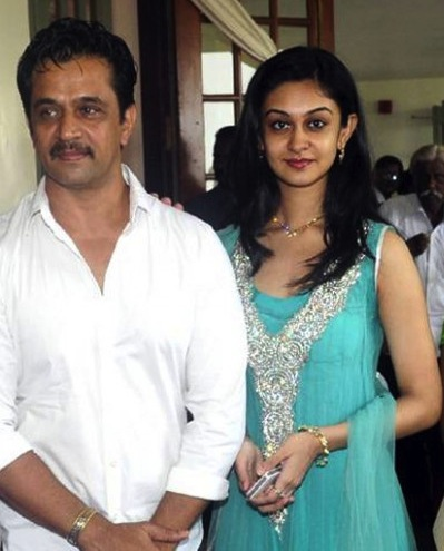 Aishwarya with her father