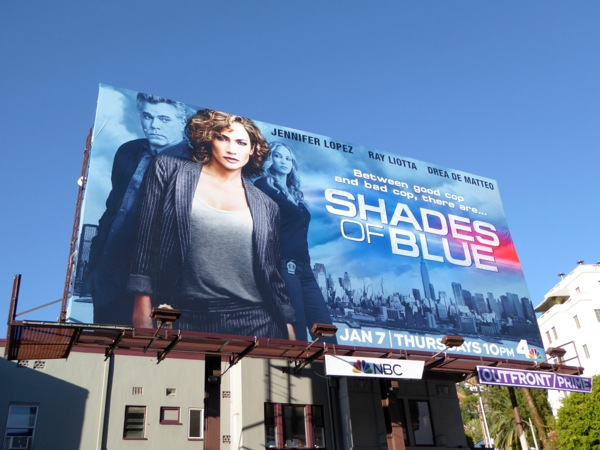 Jennifer Lopez Shades of Blue billboard