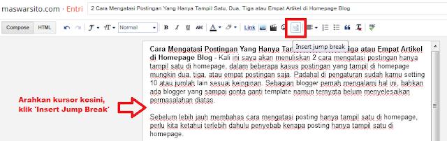2 Cara Mengatasi Postingan Yang Hanya Tampil Satu, Dua, Tiga atau Empat Artikel di Homepage Blog