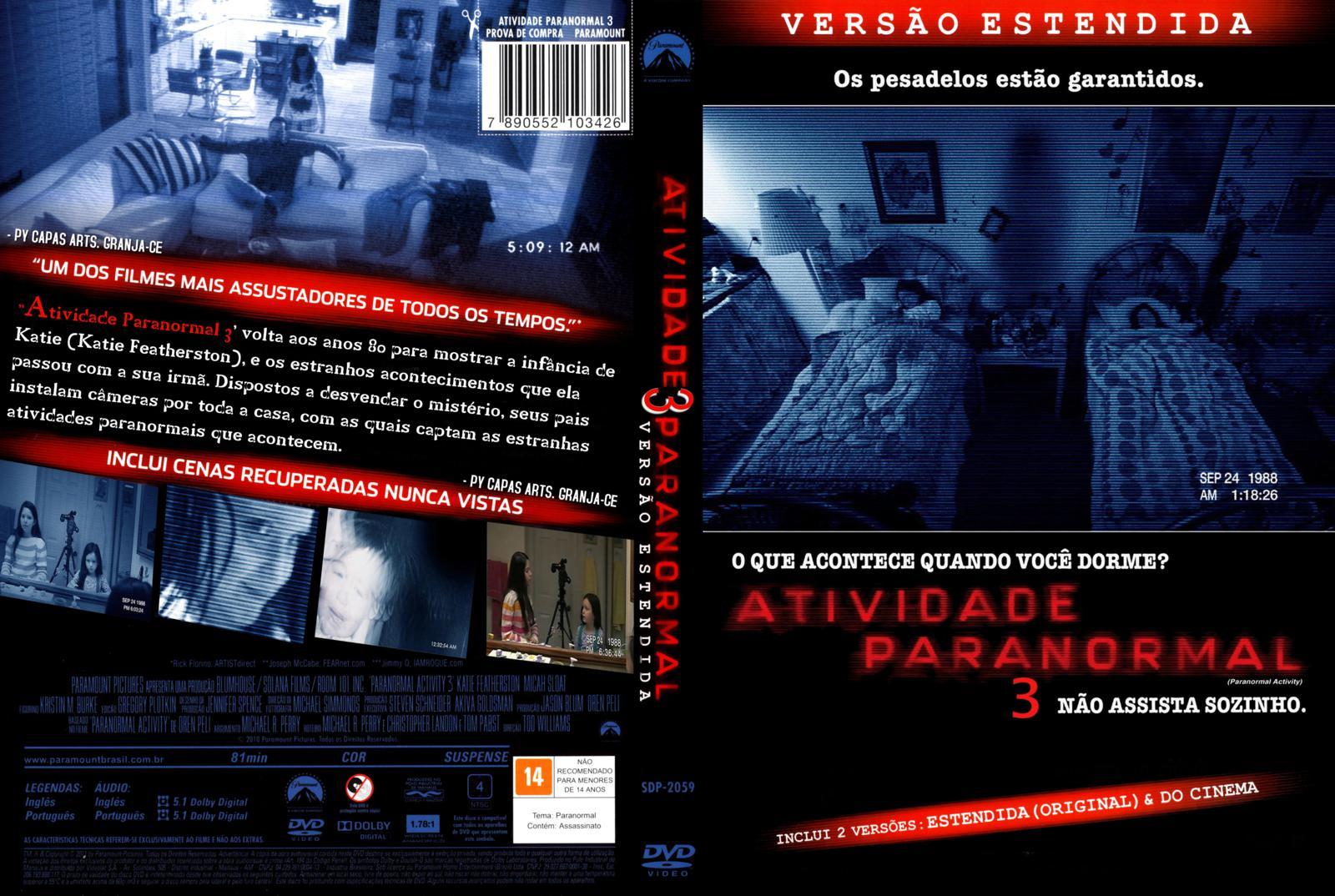 ATIVIDADE PARANORMAL 3 (2011) - DOWNLOAD - TUDO SOBRE SEU FILME