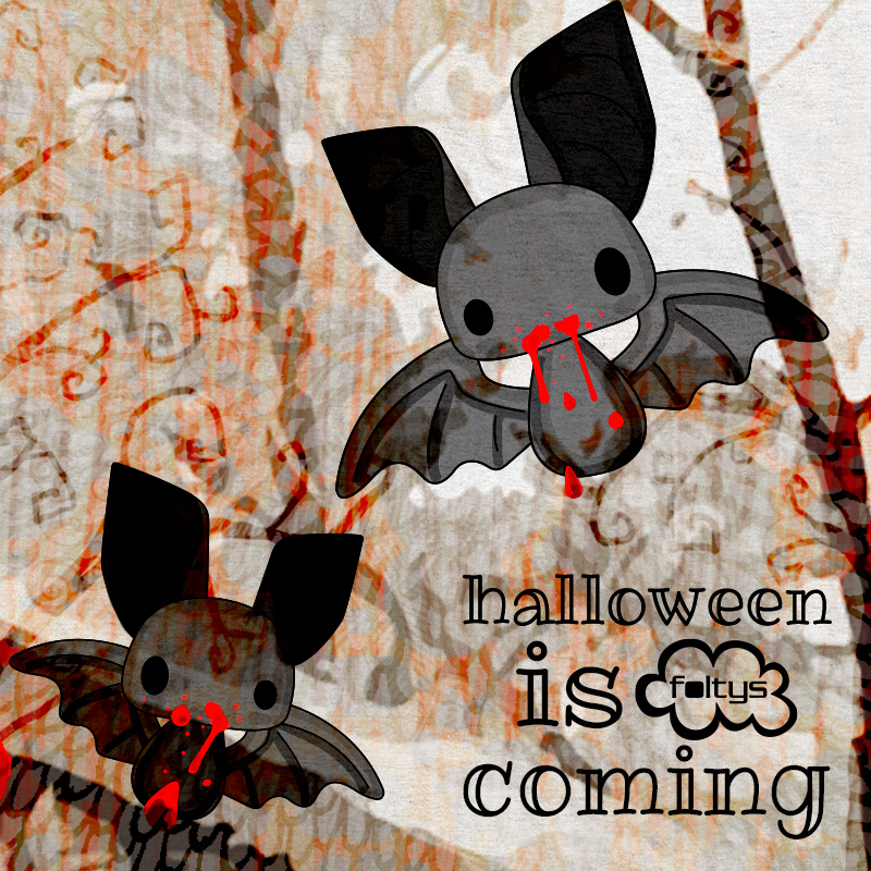 foltys vs halloween is coming: bats, 100% handmade with love