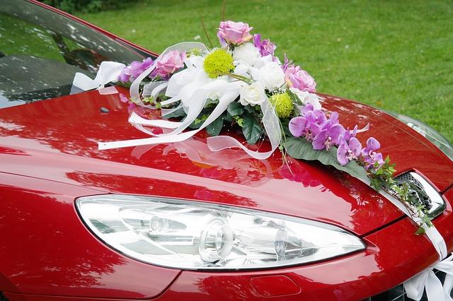 hoa xe cưới đẹp 1