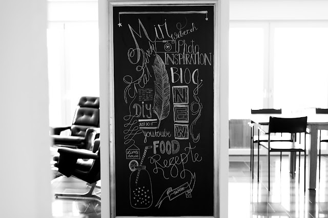 Blog Schweiz, das grosse Buch des Chalk Lettering, Chalk Lettering Buch, grüner Smoothie, Rezept Smoothie, Foodblog Schweiz, miriweber.ch, Kreidetafel, Lettering mit Kreide, DIY