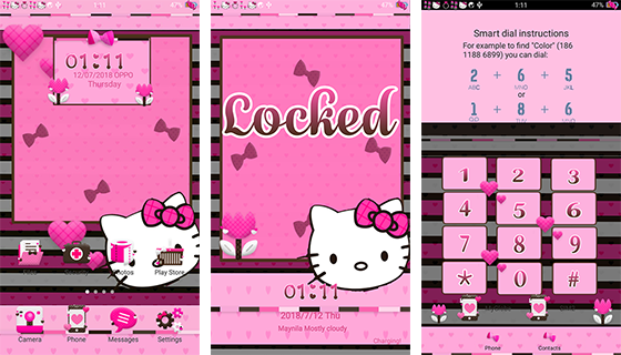 Oppo Theme: Oppo Hello Kitty Cupid Theme