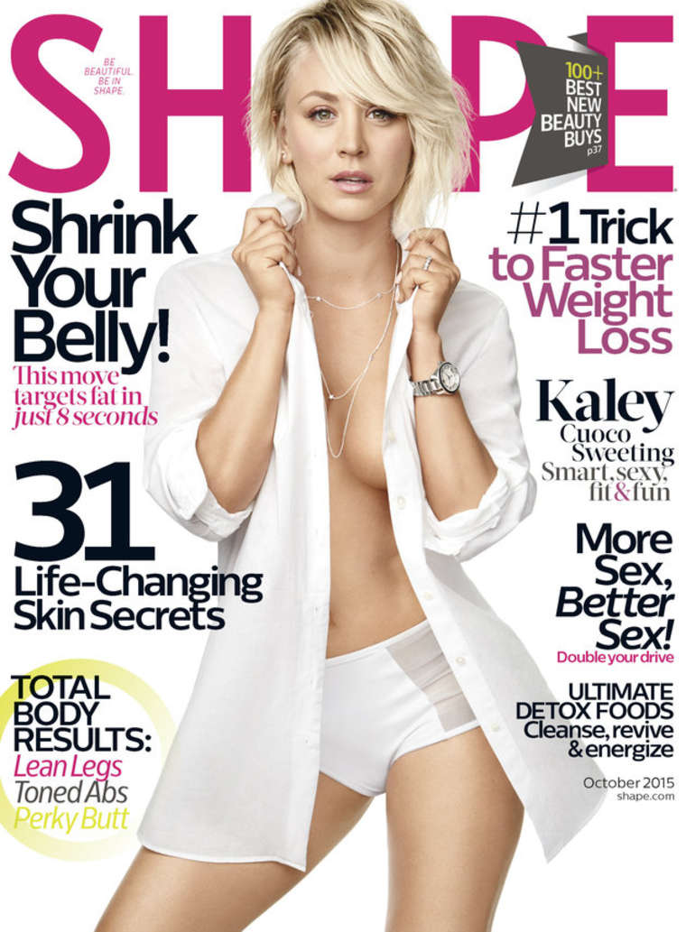 Kaley Cuoco shows toned physique for Shape Magazine