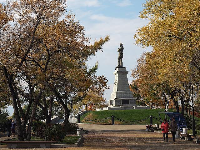 Хабаровск, памятник Муравьеву-Амурскому (Khabarovsk, a monument to Muravyov-Amursky)
