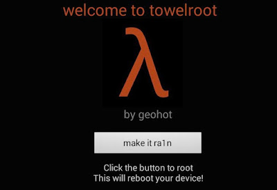 Aplikasi root Android terbaik dan terbukti selanjutnya ialah Towelroot. Aplikasi ini sangat cocok untuk anda yang tergila-gila dalam dunia rooting android.