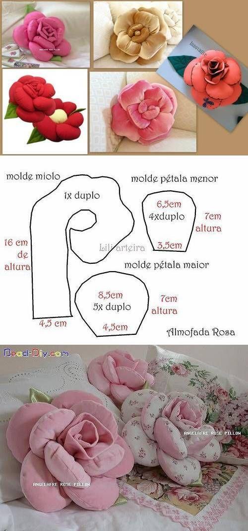 come fare cuscini a forma di fiore. 5 facili tutorial