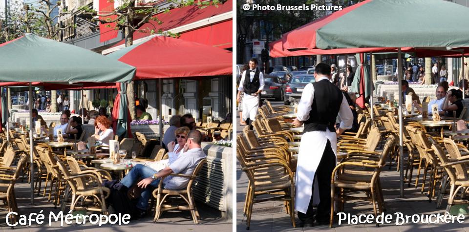 Café Métropole et sa terrasse chauffée - Place de Brouckère - Bruxelles-Bruxellons