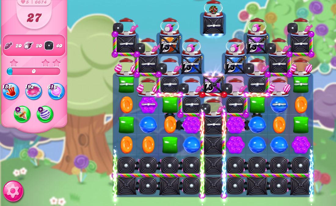 Candy Crush Saga level 6674