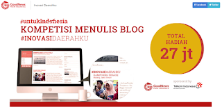 #InovasiDaerahku Lomba Menulis Telkom Indonesia Berhadiah Puluhan Juta (DL Agustus 2016)