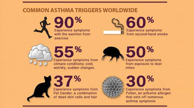 punca asma berlaku, asthma triggers, pencetus asma, punca berlakunya asma, sesak nafas, semput, lelah, tips kawal asma, petua atasi asma