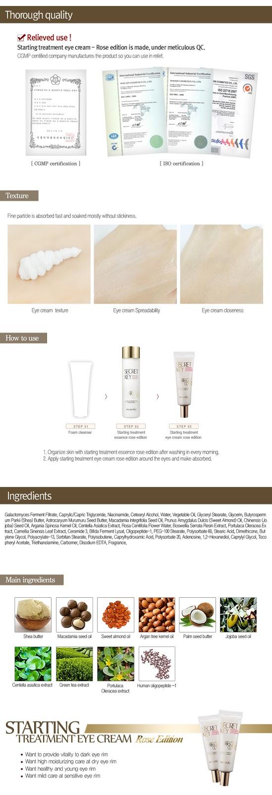 Pinky Noona Shop Secret Key Starting Treatment Eye Cream Rose 50gr Cara Pemesanan