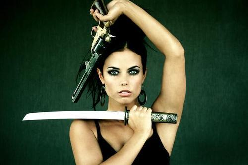 Eclectic banana girls with swords - Girl with sword wallpaper ...