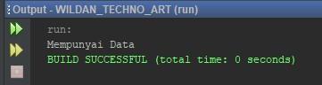 Penggunaan fungsi isEmpty String meggunakan if-else pada Java