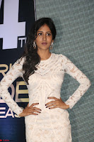 Chandini Chowdary in white Tight dress at Shamanthakamani pre release function ~  Exclusive 030.JPG