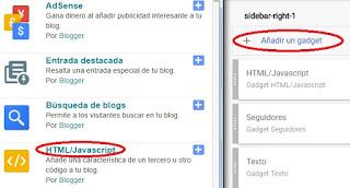 Colocar anuncios en Blogger