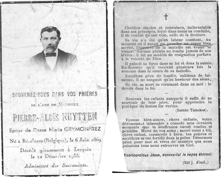mémento Pierre Nuytten