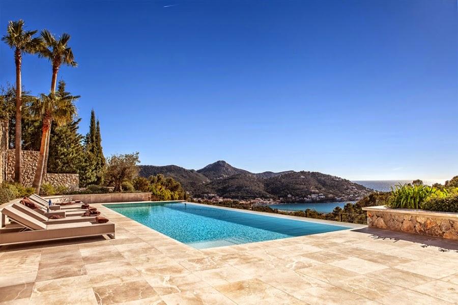 Nowoczesna willa na Majorce, wystrój wnętrz, wnętrza, urządzanie domu, dekoracje wnętrz, aranżacja wnętrz, inspiracje wnętrz,interior design , dom i wnętrze, aranżacja mieszkania, modne wnętrza, willa z basenem
