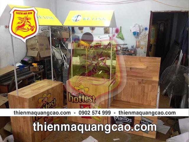 Chuyên cung ứng quầy bán hàng di động bằng gỗ giá phải chăng