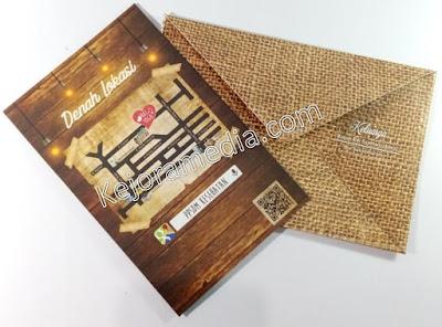 undangan motif kayu