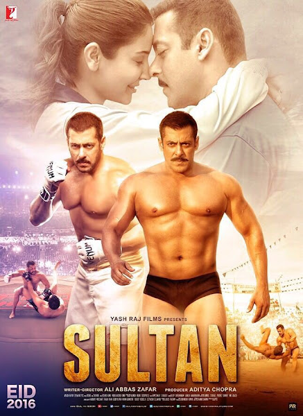 Poster Of Sultan 2016 720p Hindi DVDRip Full Movie Download With ESubs